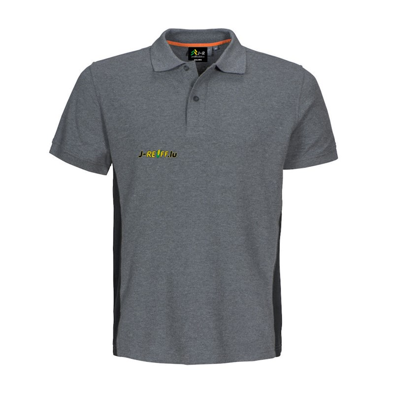 Polo T-Shirt with logo in gray/black