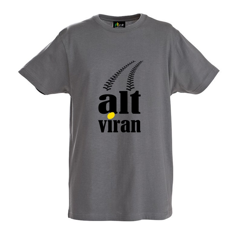 "T-Shirt ""alt viran"" in grau"