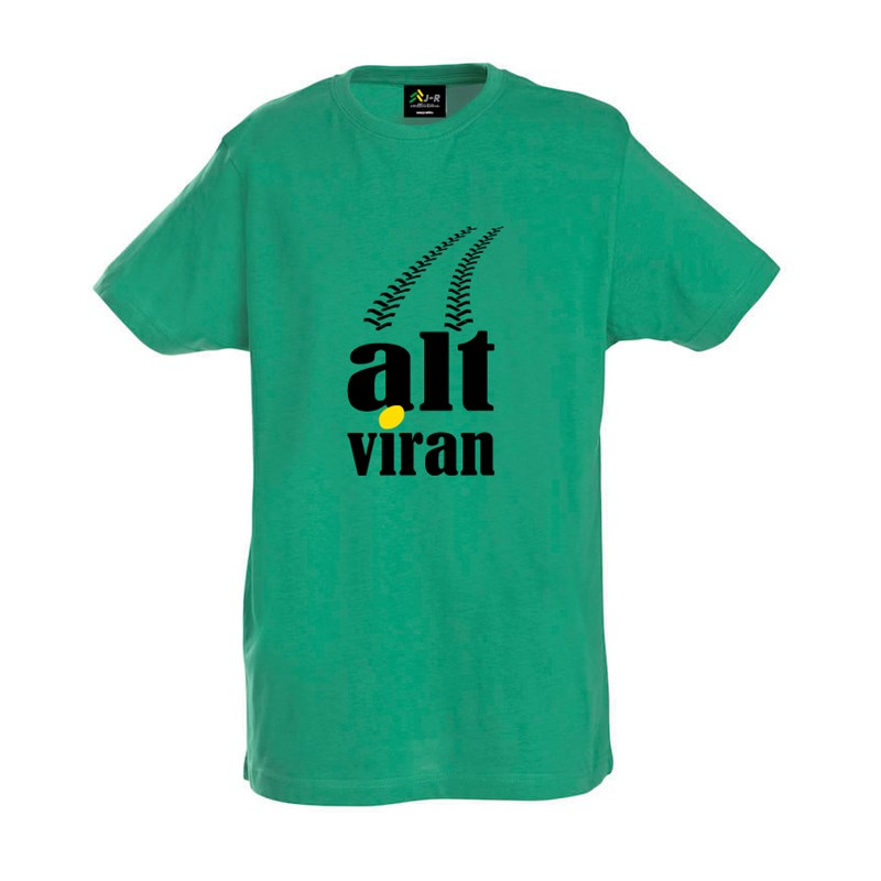 "T-Shirt ""alt viran"" in green"