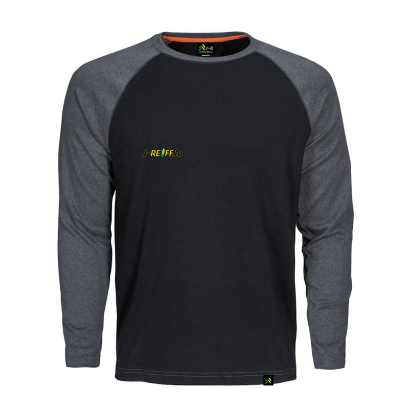 Longsleeve T-Shirt with logo in black/grey