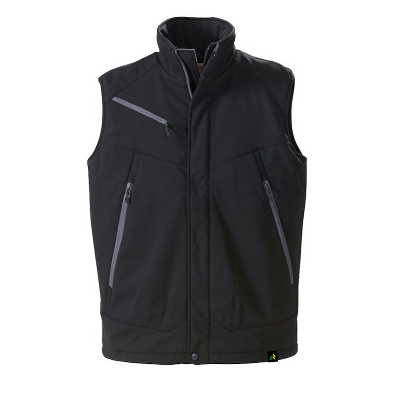 Vest without arms with logo in black