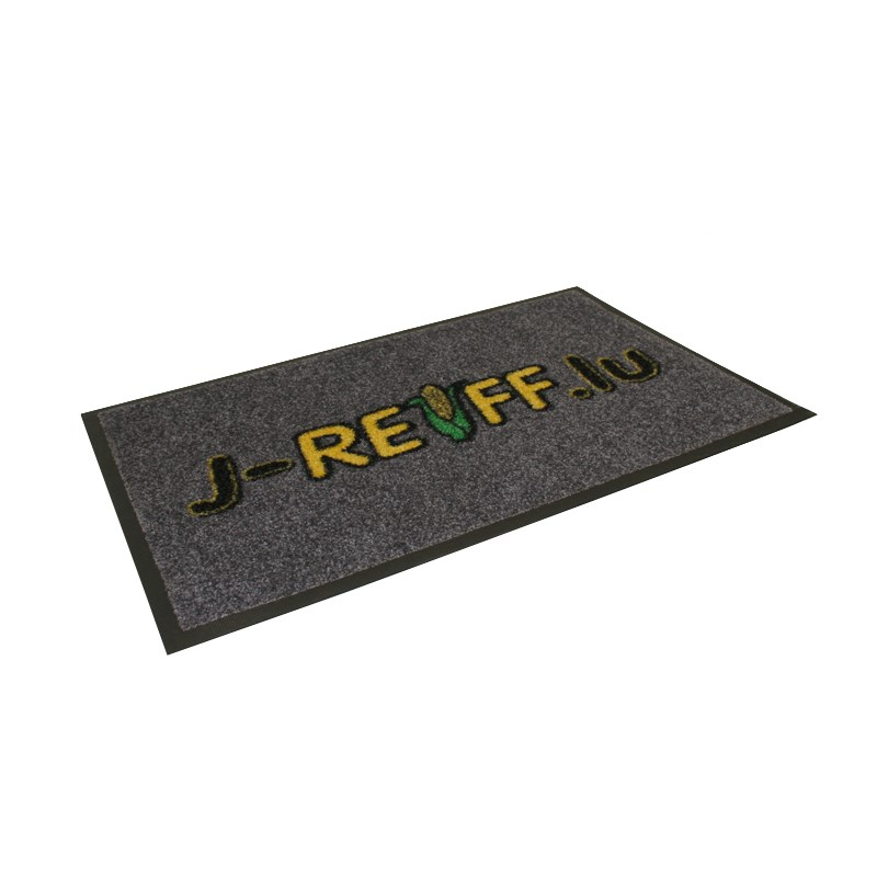Doormat in grey with logo