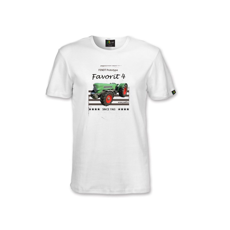Oldtimer T-Shirt Fendt Favorit 4 in weiß XL