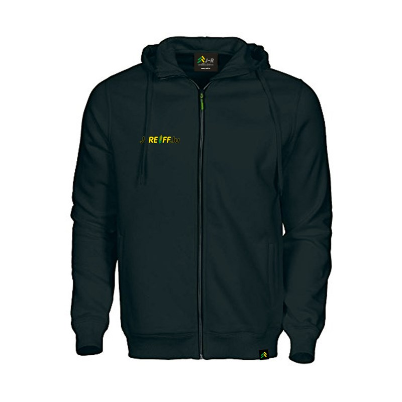 Hooded jacket with logo in black
