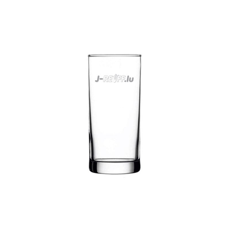 Drinking glass with logo
