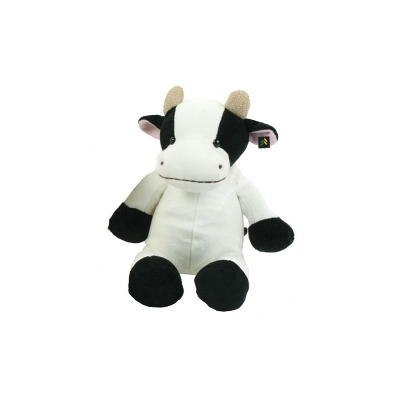 Children cuddly animal as cow