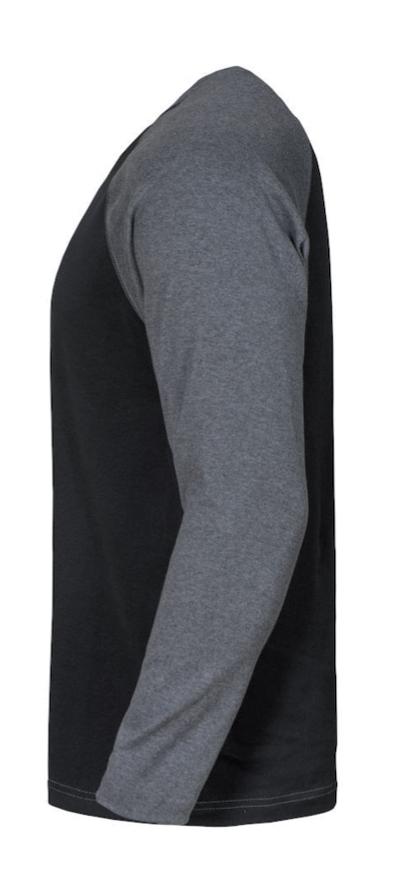 j reiff langarm t shirt alt viran in schwarz grau. Black Bedroom Furniture Sets. Home Design Ideas