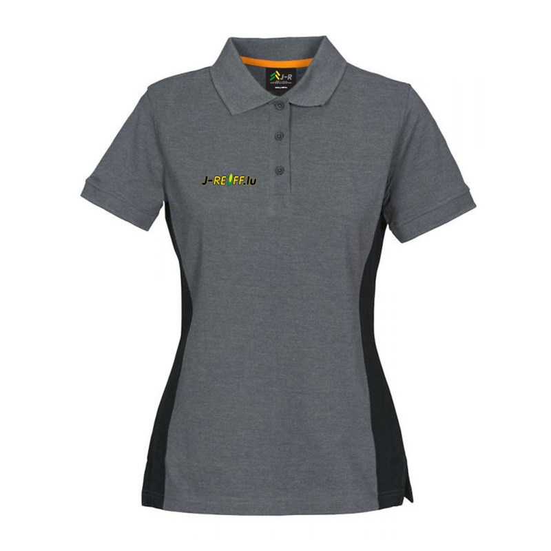 j reiff polo t shirt mit logo in grau schwarz. Black Bedroom Furniture Sets. Home Design Ideas