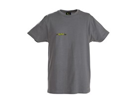 T-Shirt mit Logo in grau