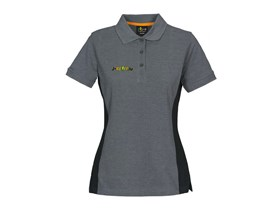 Polo T-Shirt with logo in grey/black Lady