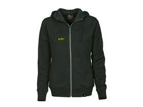 Hooded jacket with logo in black Lady