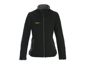 Softshell jacket with logo in black Lady
