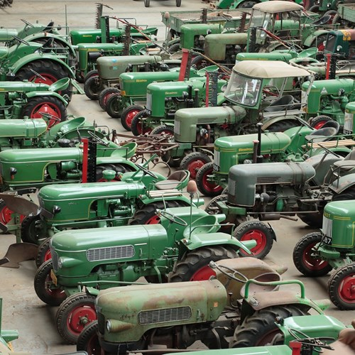 Vintage tractor collection